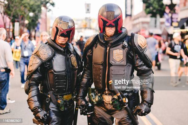 Cosplayers attends the 2019 Comic-Con International on July 18, 2019 in San Diego, California.