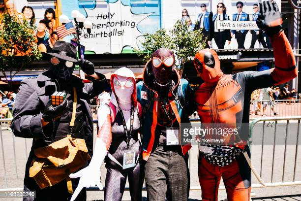 Cosplayers attends the 2019 Comic-Con International on July 20, 2019 in San Diego, California.