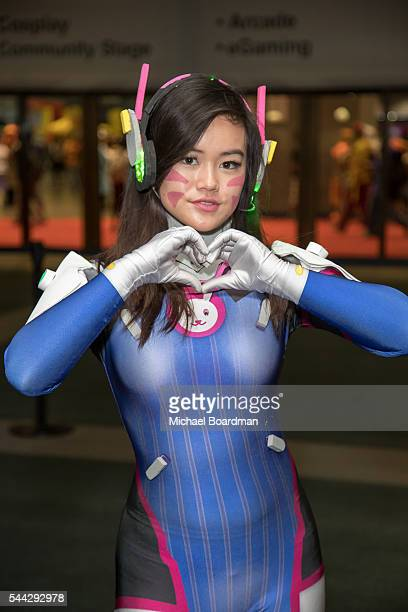 Cosplayers attends the Anime Expo 2016 at Los Angeles Convention Center on July 02 2016 in Los Angeles California