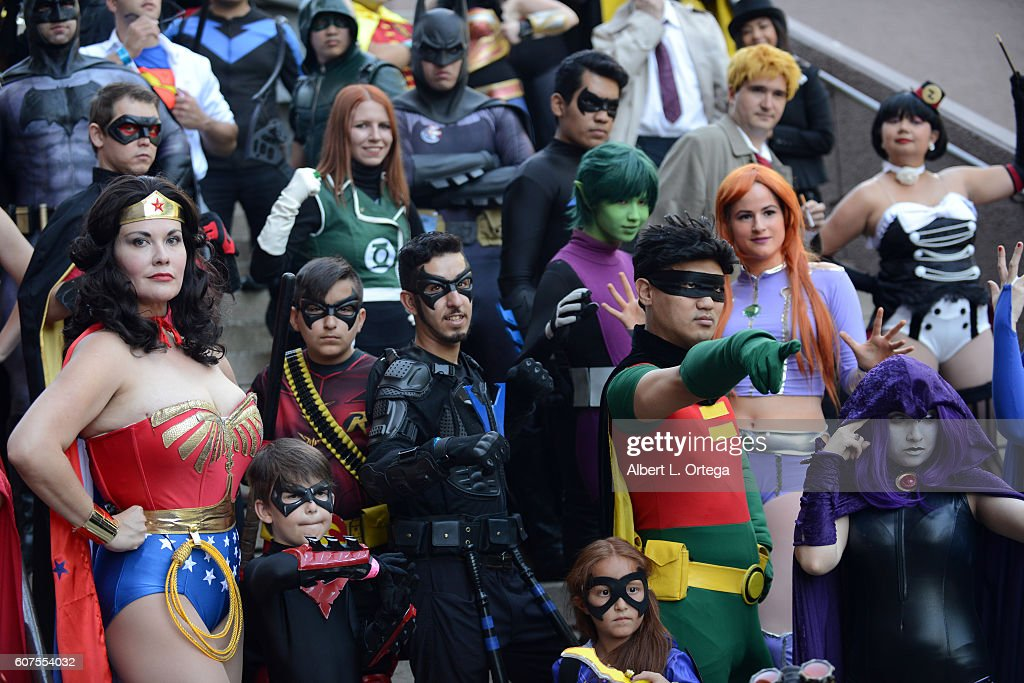 Cosplayers attends the Long Beach Comic Con held at Long Beach Convention Center on September 17, 2016 in Long Beach, California.