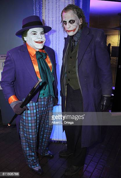 Cosplayers Carlos Velarde and Jesse Oliva as The Joker at the 2016 Long Beach Comic Expo held at Long Beach Convention Center on February 20 2016 in...