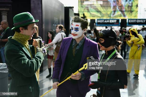 Cosplayers dressed as Batman villians during New York Comic Con 2018 at Jacob K Javits Convention Center on October 4 2018 in New York City