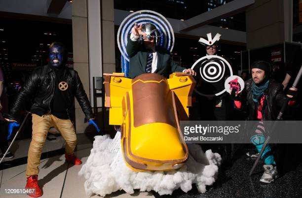 """Cosplayers dressed as characters from """"X-Men"""" attend C2E2 Chicago Comic & Entertainment Expo at McCormick Place on February 29, 2020 in Chicago,..."""