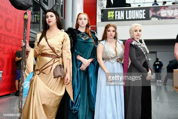 Cosplayers dressed as Game of Thrones characters during New York Comic Con 2018 at Jacob K Javits Convention Center on October 4 2018 in New York City