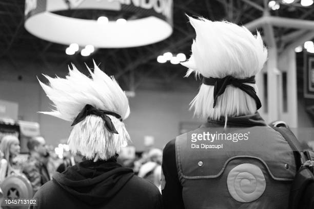 Cosplayers dressed as Kakashi from Naruto attend New York Comic Con 2018 at Jacob K Javits Convention Center on October 4 2018 in New York City