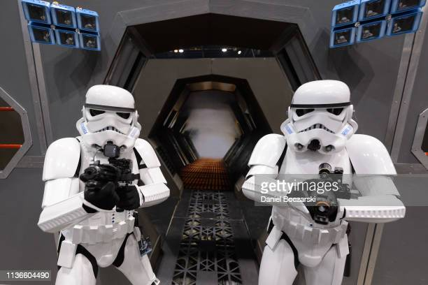 Cosplayers dressed as Stormtroopers attend Star Wars Celebration at McCormick Place Convention Center on April 11, 2019 in Chicago, Illinois.
