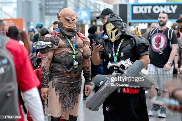 Cosplayers dressed as World of Warcraft characters attend New York Comic Con 2019 - Day 2 at Jacobs Javits Center on October 04, 2019 in New York...