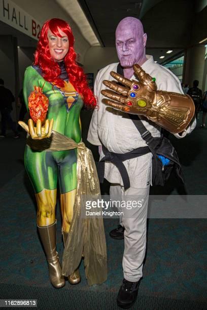 Cosplayers Jennifer Carter as Phoenix and Be'la Dornon as Thanos attend 2019 Comic-Con International at 2019 Comic-Con International on July 18, 2019...