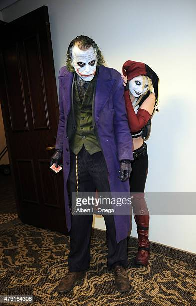 Cosplayers Jesse Oliva and Zoey Garcia as The Joker and Harley Quinn attend the 2nd Annual LA Cosplay Con held at the Century Plaza Hotel on June 13...
