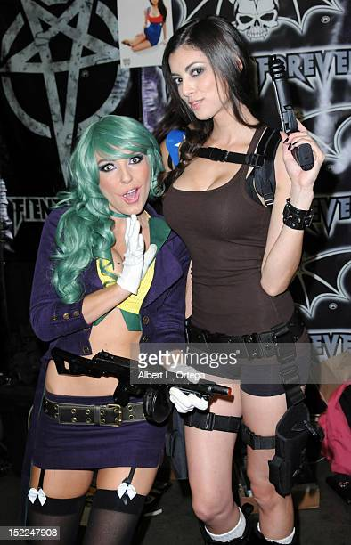 Cosplayers Jessica Nigri and Leanna Vamp participate in Stan Lee's Comikaze Expo 2nd Annual Pop Culture Convention Day 1 held at The Los Angeles...