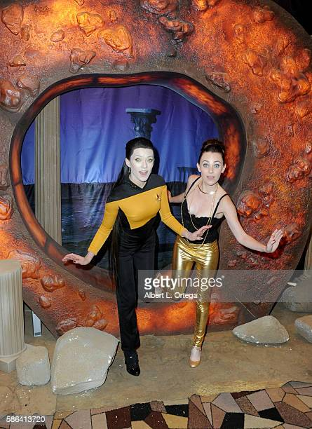 Cosplayers Joanie Brosas and Megan Golden on day 3 of Creation Entertainment's Official Star Trek 50th Anniversary Convention at the Rio Hotel Casino...
