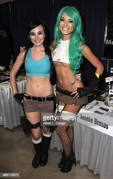 Cosplayers Megan Golden and Joanie Brosas at the Long Beach ComicCon 2015 held at Long Beach Convention Center on September 13 2015 in Long Beach...