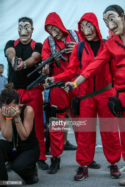 MEDITERRANEO PALERMO ITALY Cosplayers of La Casa de Papel at Palermo Comic Convention 2019