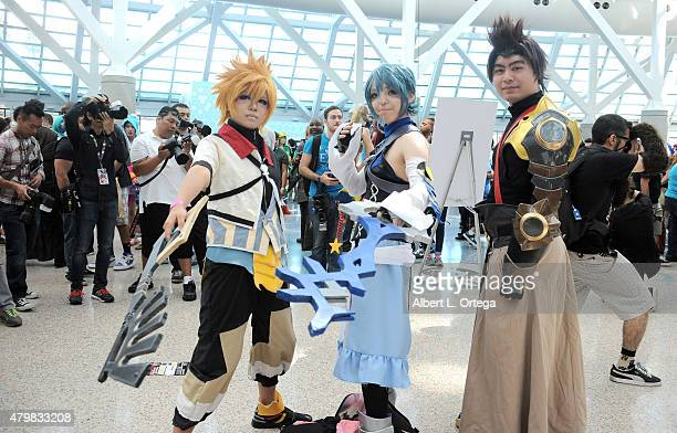 Cosplayers on day 2 of Anime Expo 2015 held at the Los Angeles Convention Center on July 3 2015 in Los Angeles California