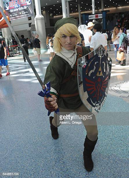 Cosplayers on Day 2 of Anime Expo 2016 held at Los Angeles Convention Center on July 1 2016 in Los Angeles California