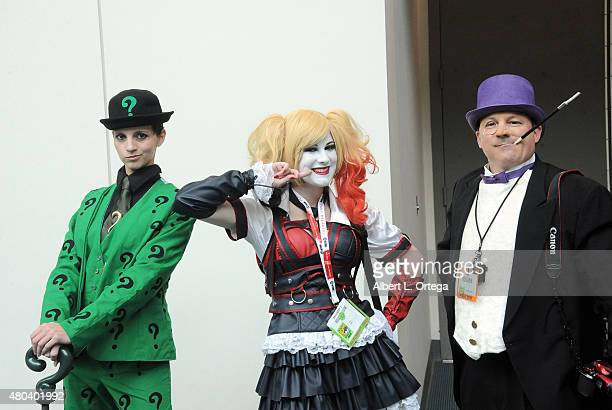 Cosplayers pose during ComicCon International 2015 on July 11 2015 in San Diego California