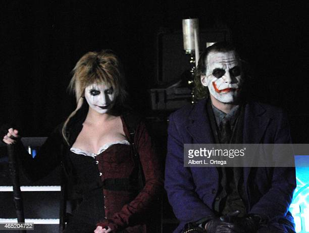 Cosplayers Zoey Garcia and Jesse Oliva as Harley Quinn and The Joker at 2015 Saturn Award Nominations for the 41st Annual show to be held June 25th...