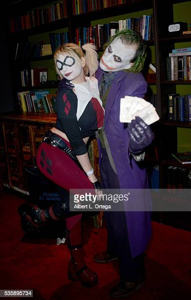 Cosplayers Zoey Garcia as Harley Quinn and Jesse Oliva as The Joker at Club Cosplay held at OHM Nightclub on May 29 2016 in Hollywood California