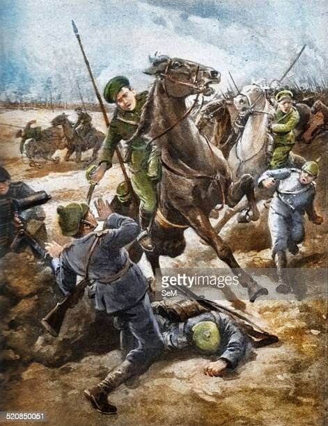 Cossacks rout Germans at the point of the Sabre. During the great Russian offensive in Volhynia some of the Cossack regiments have helped to sweep...
