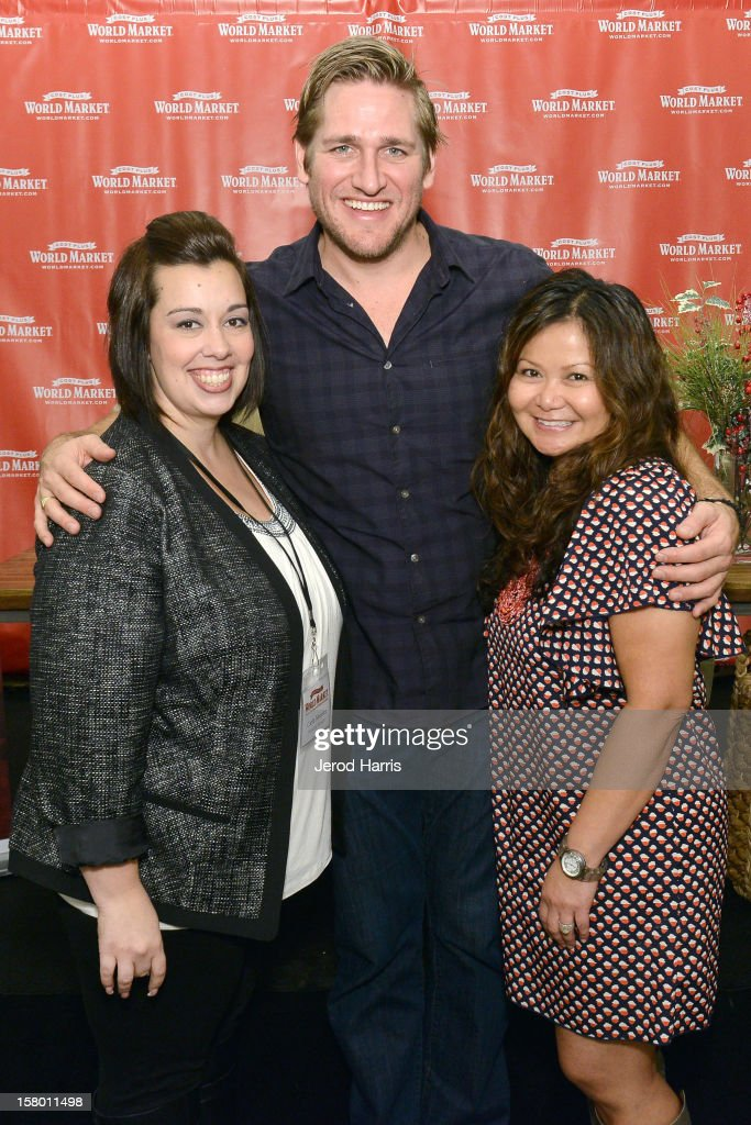 Cost Plus World Market Marketing Manager Carla Moreira, Celebrity Chef Curtis Stone and Cost Plus World Market Director of Promotions Marissa Durazzo attend Cost Plus World Market's Share the Joy event at Cost Plus World Market on December 8, 2012 in Los Angeles, United States.