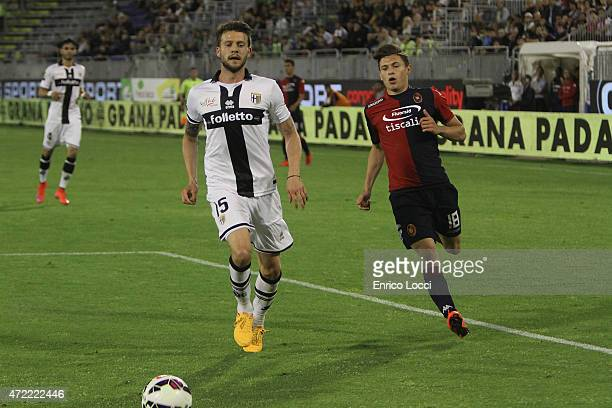 Costa Andrea of PArma in action during the Serie A match between Cagliari Calcio and Parma FC at Stadio Sant'Elia on May 4 2015 in Cagliari Italy