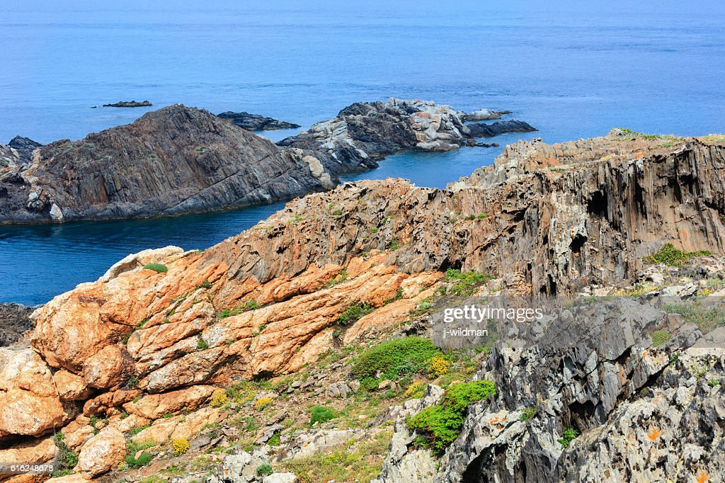 Costa Brava rocky coast, Spain. : Stock Photo