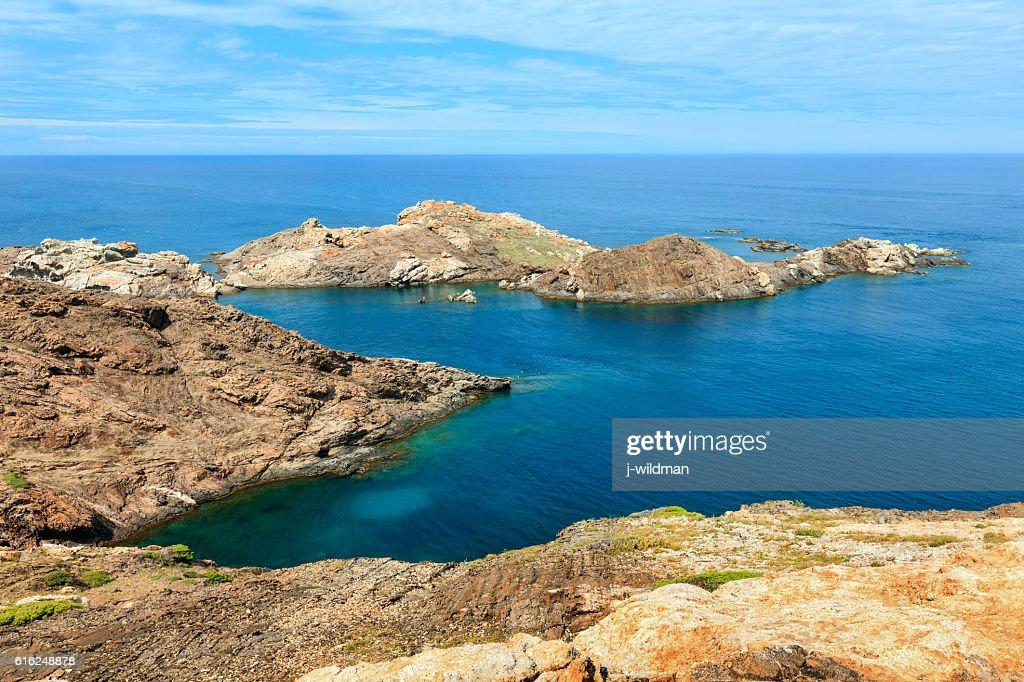 Costa Brava rocky coast, Spain. : Stock-Foto