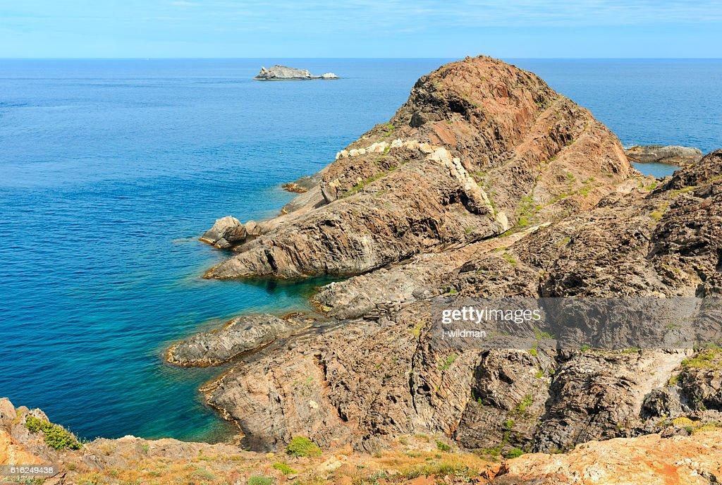 Costa Brava rocky coast, Spain. : Stock Photo