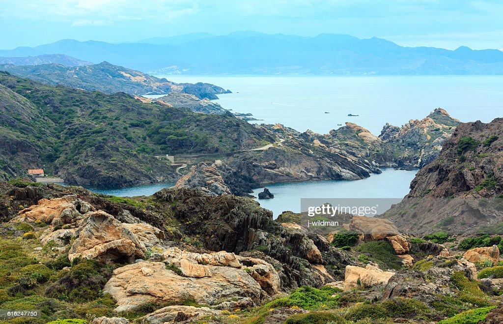 Costa Brava summer view from Cap de Creus, Spain. : Stock-Foto