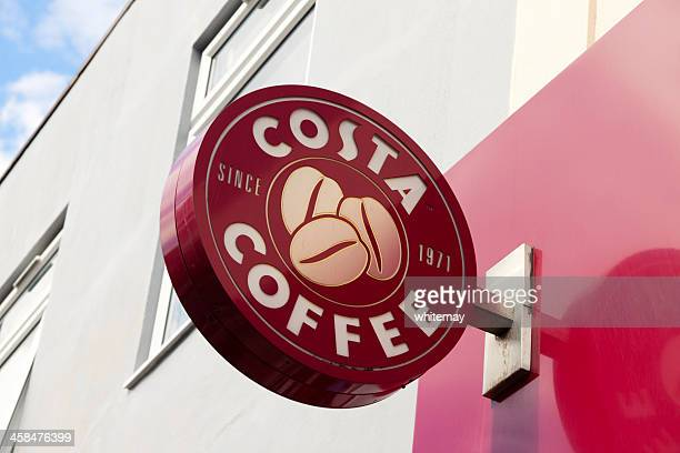 Costa coffee shop sign