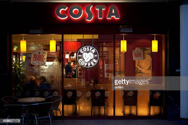 Costa Coffee shop window, sign and logo