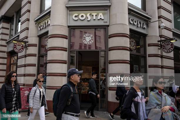 A Costa Coffee store on August 31 2018 in London England CocaCola Cois to buy the UK chainCosta Coffeefor £39 billion GBP