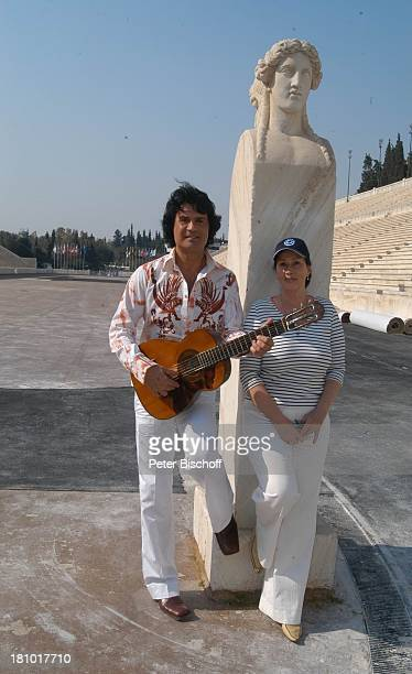 "Costa Cordalis, Ehefrau Ingrid, Olympiastadion, NDR-Special: ""Sirtaki, Stars, Olympiafieber - Athen erleben mit H E I K E G ; T Z"", Dreharbeiten in..."