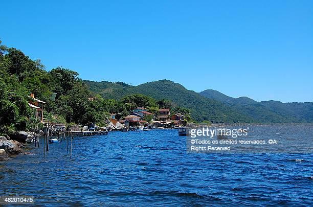 costa da lagoa - lagoa da conceição - hügelkette stock-fotos und bilder