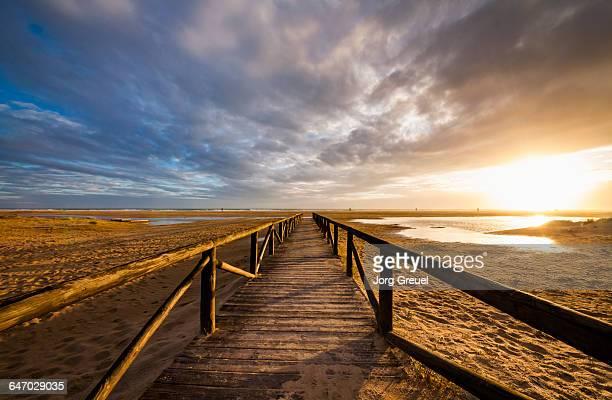 Costa de la Luz beach at sunset