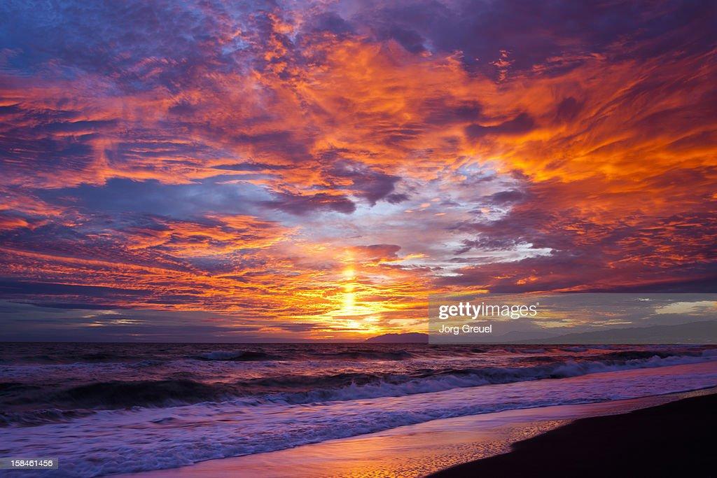 Costa del Sol sunset : Stock Photo
