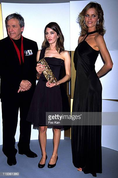 Costa Gavras Sofia Coppola and Eva Herzigova during 30th Cesars Awards at Presse Room Theatre du Chatelet in Paris France