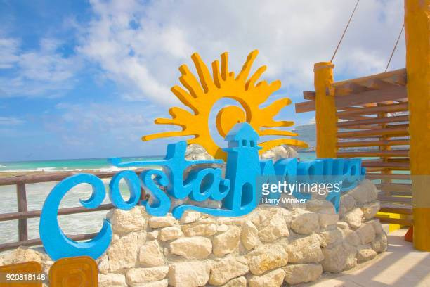 Costa Maya sign in The Yucatan, Quintana Roo, Mexico