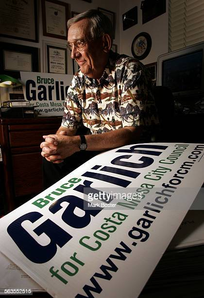 –Costa Mesa City Council candidate Bruce Garlich waits calmly for the results of the recent election Currently about 60000 votes remain uncounted in...