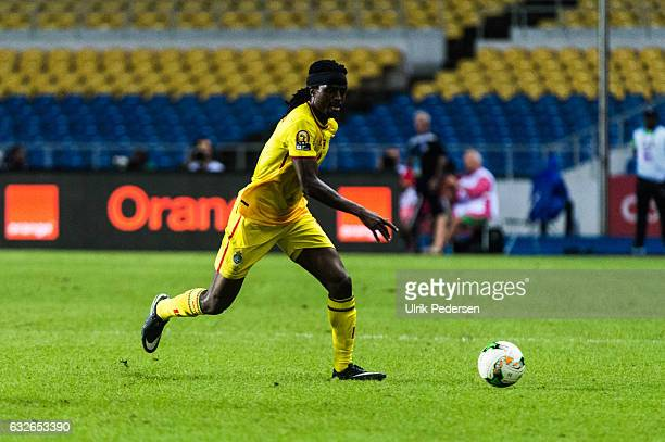 Costa Nhamoinesu of Zimbabwe during the African Nations Cup match between Zimbabwe and Tunisia on January 23 2017 in Libreville Gabon