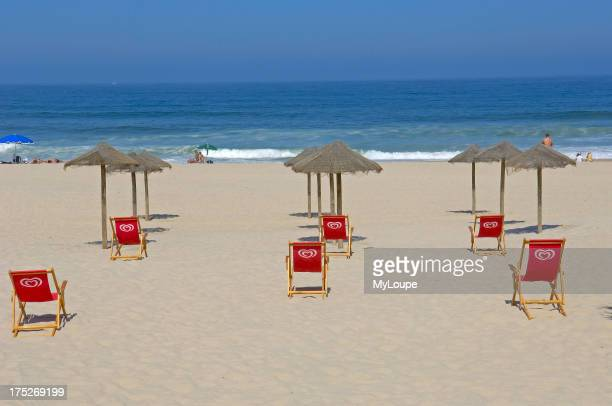 Costa Nova Beach Aveiro Beiras region Portugal