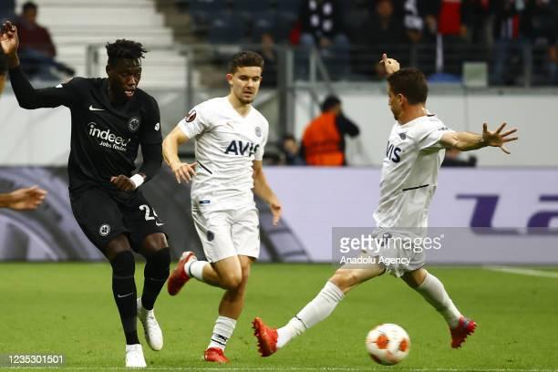 Costa of Eintracht Frankfurt in action against Mert Hakan Yandas of Fenerbahce during the UEFA Europa League group D match between Eintracht...