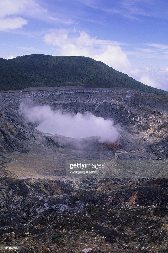 Costa Rica, Active Crater In Poas Volcano (caldera).