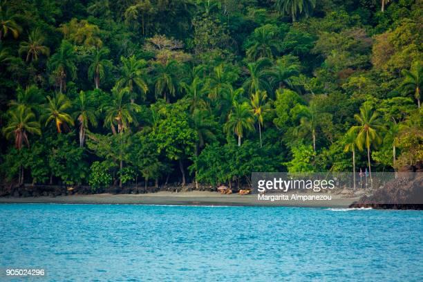 costa rica - biesanz beach - margarita beach stock photos and pictures