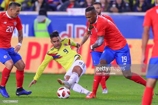 Costa Rica defender Kendall Waston battles Colombia forward Radamel Falcao Garcia during the second half of the International Friendly Soccer Game...