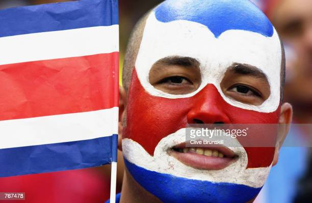 Costa Rica fan during the Brazil v Costa Rica, Group C, World Cup Group Stage match played at the Suwon World Cup Stadium in Suwon, South Korea on...