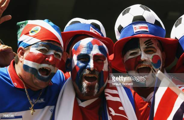 Costa Rica fans await the start of the Brazil v Costa Rica, Group C, World Cup Group Stage match played at the Suwon World Cup Stadium in Suwon,...