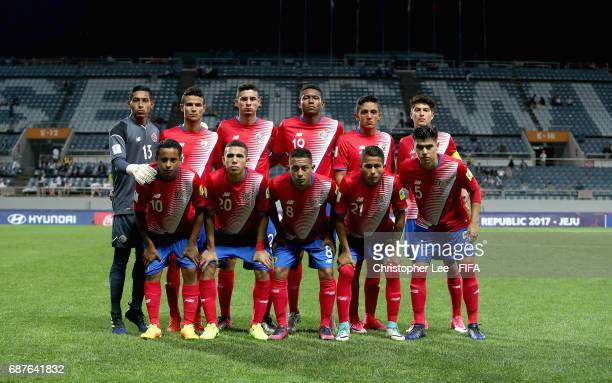 Costa Rica first eleven during the FIFA U20 World Cup Korea Republic 2017 group C match between Costa Rica and Portugal at Jeju World Cup Stadium on...