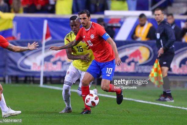 Costa Rica forward Bryan Ruiz during the International Friendly Soccer Game between Colombia and Costa Rica on October 16 2018 at Red Bull Arena in...