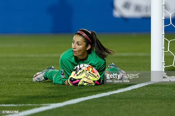 Costa Rica Goalkeeper Dinnia Diaz during the Women's Olympic qualifying soccer game between the Costa Rica and United States national teams at Toyota...